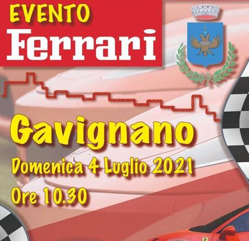 Domenica 4 luglio ritrovo Ferrari per le vie del paese. Una giornata insieme alle rosse di Maranello