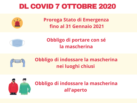 DL COVID 7 ottobre 2020