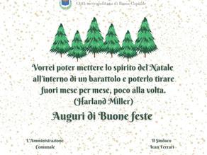 L'amministrazione comunale di Gavignano augura buone feste a tutti i cittadini.
