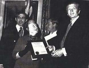 1972-Aurora and Ralph Kamhi with Mayor L