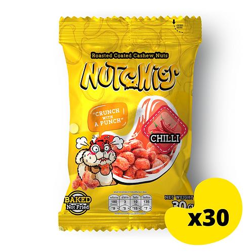 """【辛辣風味】Chilli - Nutchies  - 30g x 30包【優惠碼 """"7%OFF"""" - $324】"""