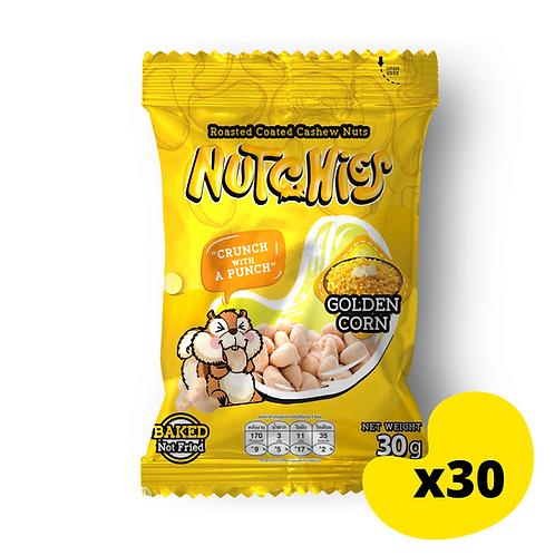 """【香甜粟米風味】Golden Corn - Nutchies  - 30g x 30包【優惠碼 """"7%OFF"""" - $324】"""