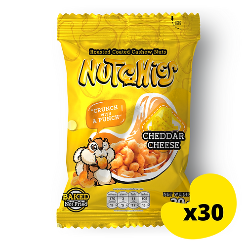 "【車打芝士風味】Cheddar Cheese - Nutchies  - 30g x 30包【優惠碼​ ""7%OFF"" - $324】"