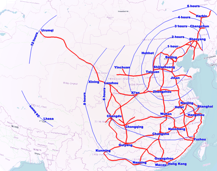 China's recent investment in the creation of the high-speed rail (HSR) network is a good targetto test for the role of cross-city transportation speed as a key determinant of urban productivity.