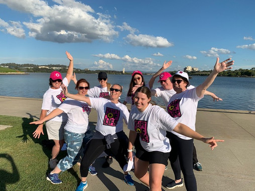 'Greenway Gang' enjoying a 5km walk around Lake Burley Griffin