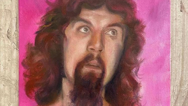 'Billy in Pink' Original Oil Painting