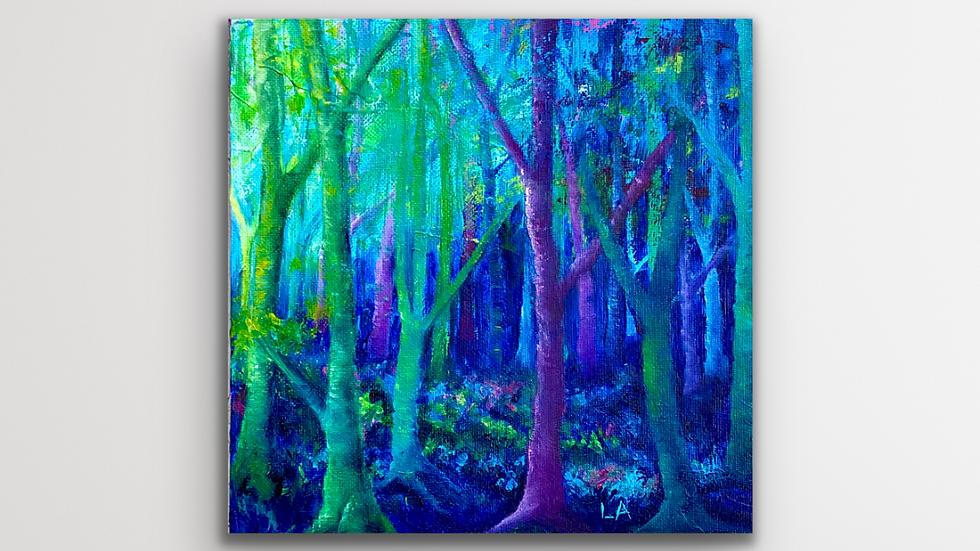 'FairyTrees' Original Mixed Media Painting