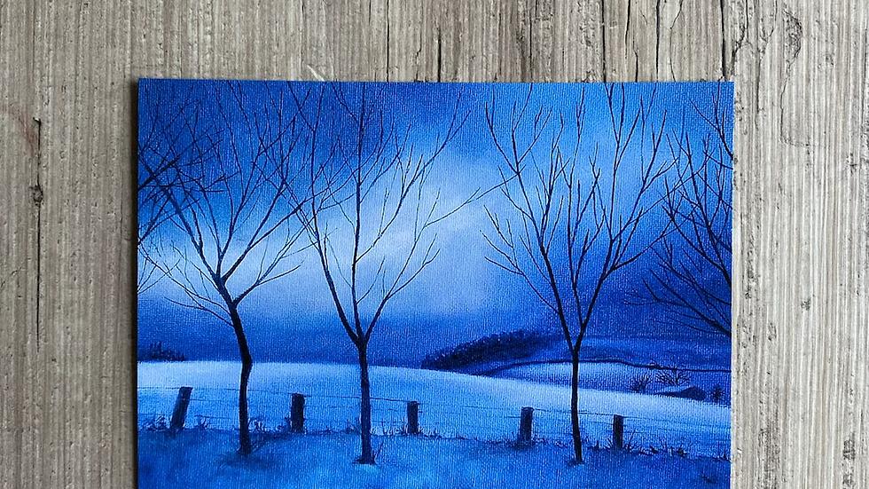 'Meigle Hill' A4 art print.