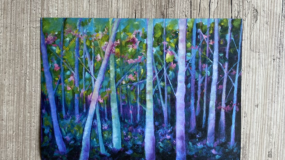 "'Candy Forest' 7""x5"" art print."
