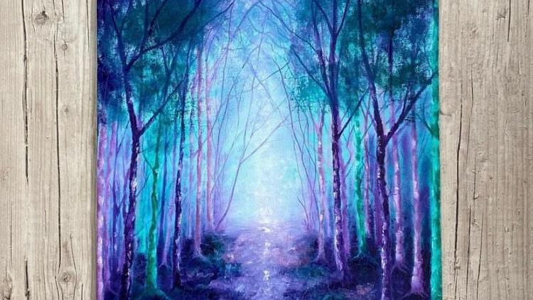 'Summer Ghosts' Original mixed media painting.