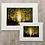 """Thumbnail: 'Autumn Sunset' 12""""x16"""" mounted art print"""