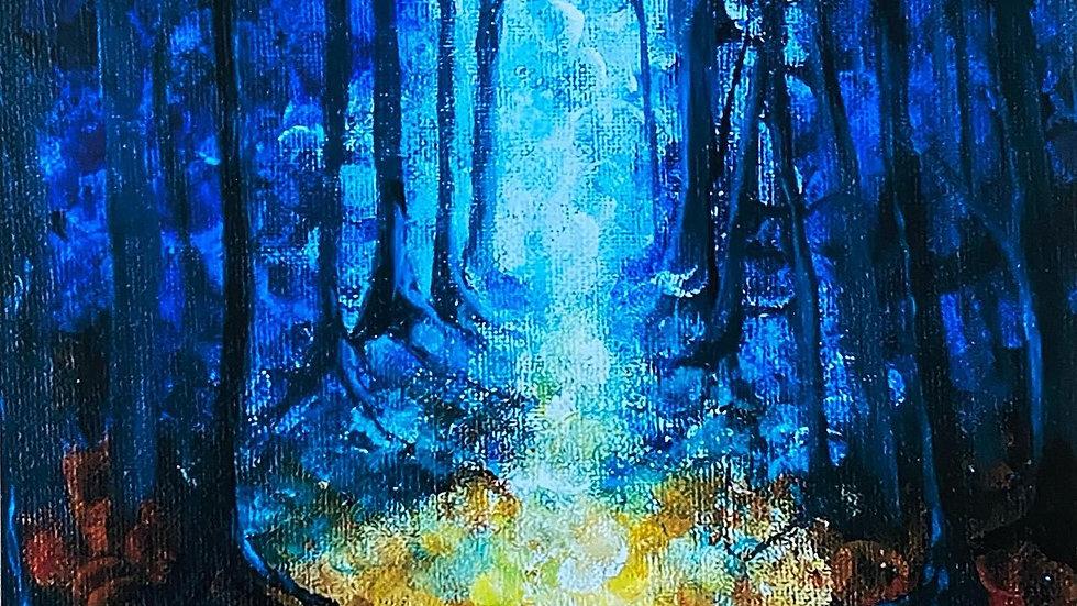 Autumn Moonlight Giclee Print (A4)