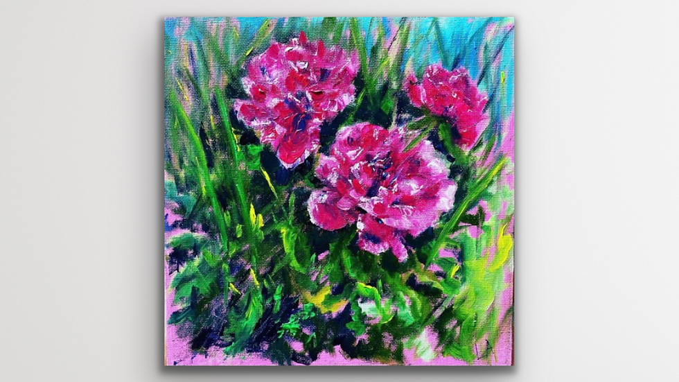 'A Day in the Sun' Original Oil Painting