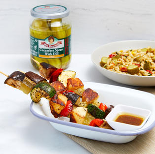 Pickled Halloumi Skewers