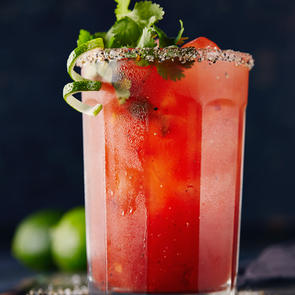 Smoked Lime and Tequila Caesar