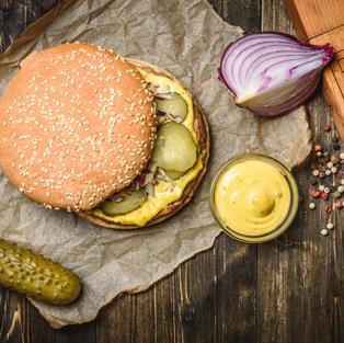 'The Full Works' Burger!