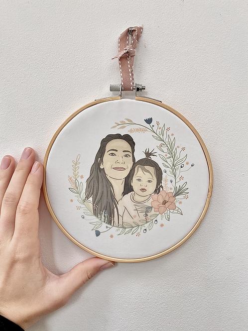 15cm Printed Embroidery Hoop