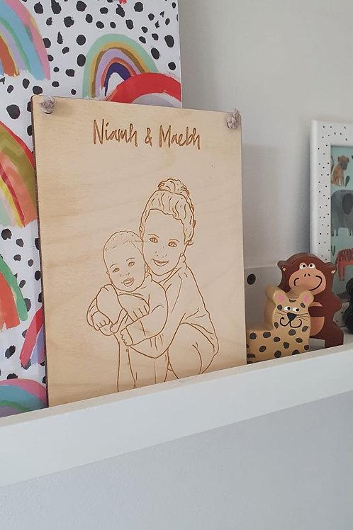 Wooden Laser Plaque