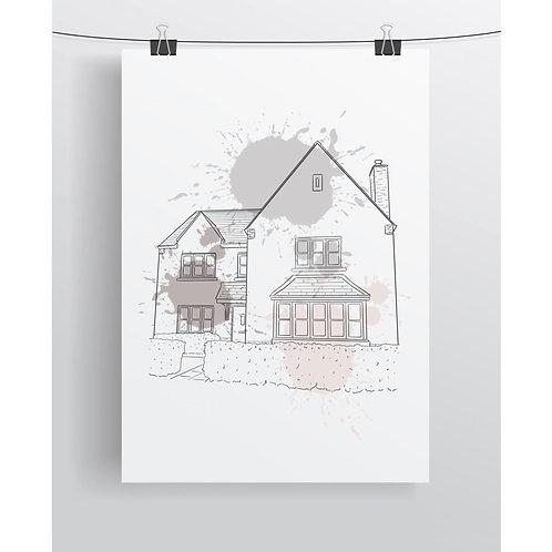 Line Home Illustration