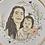 Thumbnail: Colour Person / Pet Illustration (Floral Wreath)