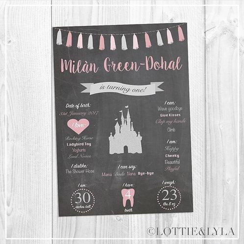 Chalk Princess Birthday Print