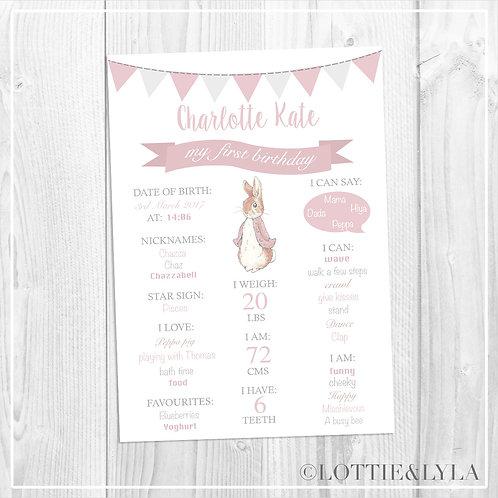 Bobtail Bunny Birthday Print