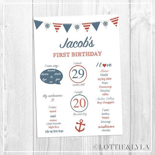Nautical Birthday Print