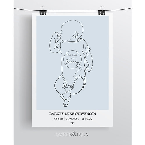 Line Baby Portrait