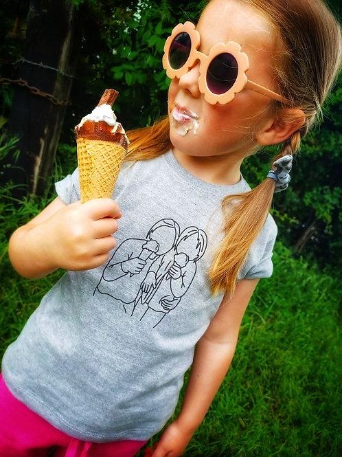 Line Illustration T-Shirt (Kids)