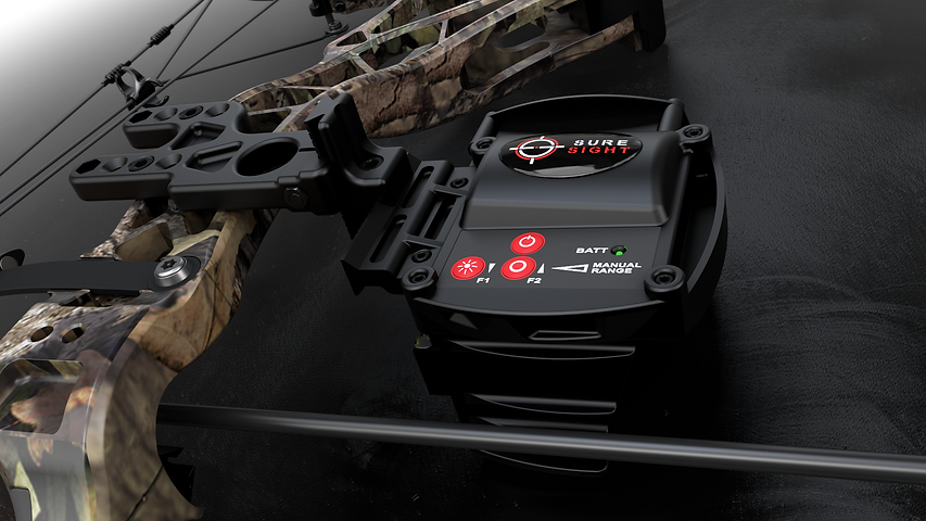 Sure Sight Automatic bow sight suresight, Garmin Xero, Automatic Bow Sight, Bow Hunting, Hunting, Archery, Shooting, target distances, aim, shot, sight tapes