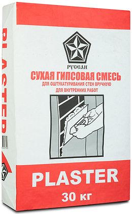 РУСЕАН Пластер штукатурка гипсовая (30кг)