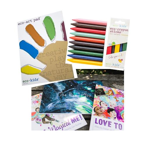 Create Bundle: eco-art pad, eco-crayons & book