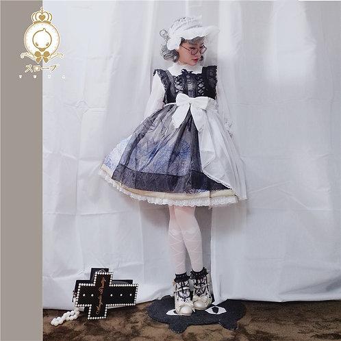 YUYAスロープ オーパードレス エプロン黒