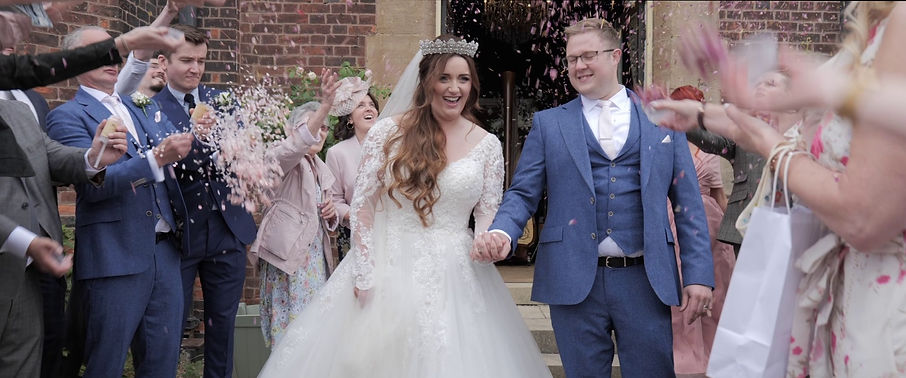 Sheffield Wedding Couple with Confettii - Filmed by MFVideography