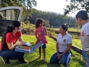 Diretoras e equipe pedagógica da Educação de São Carlos visitam famílias de São João e Bela Vista