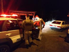 Polícia Militar realizou abordagem a veículo suspeito na rua Getúlio Vargas em São Carlos