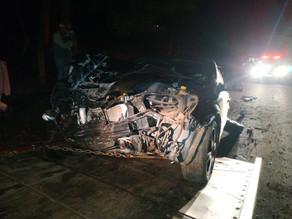 Guarnição acionada para atendimento de acidente de trânsito na SC 283 em Balneário de Pratas