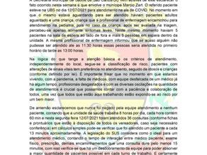 Secretaria Municipal de Saúde -Nota de Esclarecimento