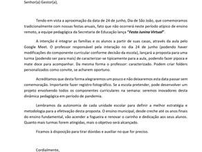 Rede municipal de ensino de São Carlos promoverá Festa Junina virtual.