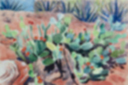 Landscape with Cacti on Red Sandstone.jp