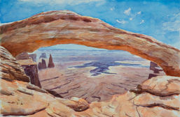 Grand Mesa Arch Overlooking the Canyonla