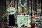 оформление фотосессии, декор, флорист Ольга Морозова, дизайн, хэллоуин, ведьма, шабаш, паутина