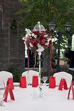 оформление свадьбы, декор, цветочная композиция, роскошные цветы, королевская свадьба, красный, белый, флорист Ольга Морозова
