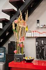 оформление интерьеров, композиция на ресепшен,  оформление салона красоты,  PAUL MITCHELL, цветы в офисе, флорист Ольга Морозова