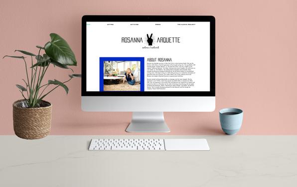 Website design   Rosanna Arquette