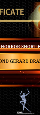 Best Horror Short Film for South Film and Arts Academy Festival July 2019.