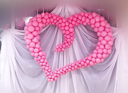 Сердце из шаров. свадьба томск