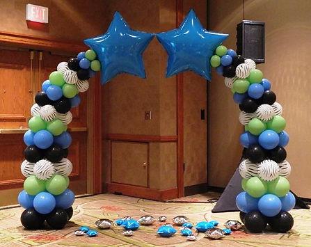 арка млечный путь из воздушный шаров том