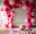 Фантазийная арка из воздушных шаров томс