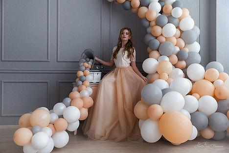 гирлянда, арка из шаров томск свадьба